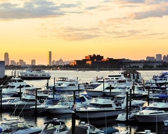 It Lights the Whole Sky - Wall Art - Photograph - Print - Color Photograph - Home Decor - Marina Bay - Quincy - Massachusetts - Marina