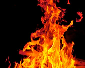 It Smothers Me in Flames - Wall Art - Photograph - Print - Color Photograph - Home Decor - Fire - Flames - Campfire - Bonfire