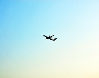 I'll Drift About Forever - Wall Art - Photograph - Print - Color Photograph - Home Decor - Sky - Blue Sky - Plane - Airplane