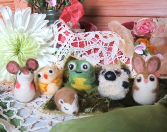 Needle Felted Small Nugget Critter, your choice of animal