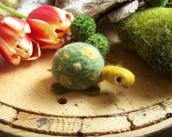 Needle Felted Spotted Turtle, you choose colors
