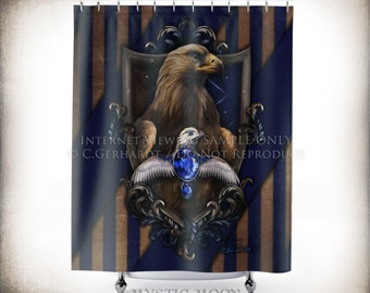 Charmant Wisdom / Shower Curtain / Potter Gift / Wizard / Witch / Nerd Gifts / Nerd  Decor / Magic / Raven / Geeky Wedding Gift / Bathroom