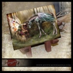 LIMITED Edition / Brutaliton / ACEO / ATC / Fairy Art / Fairy Pictures / Fairy Painting / Pegasus  / Greek Mythology / Fantasy Art Painting