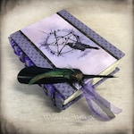 Book of Shadows / Wiccan  / Pagan / Journal / Personalized Journal / Wicca  / Spell Book / Prayer Book / BOS  / Spellbook/ Quill Pen / Raven