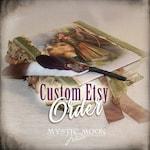 Custom Order for DENISE D. / Book of Shadows / Handmade Journal / Handamde Book / Spell Book / Optional Quill and Ink