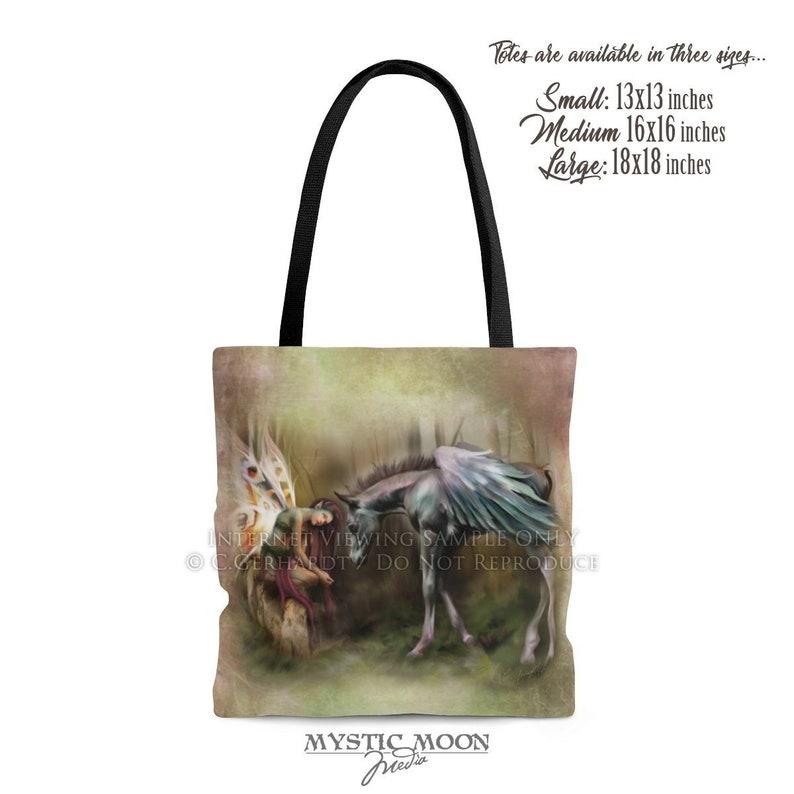 Brutaliton Tote Bag  Fairy Art Print  Fairy Gift  Fairy Wings  Fairy Painting  Fairy Art  Fantasy Art  Pegasus  Canvas  Tote Purse