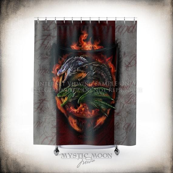 Blood Fire Shower Curtain Nerd Gifts Decor Geeky