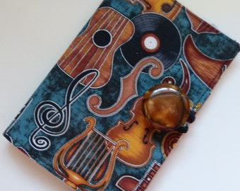 Music Instruments Tea Wallet