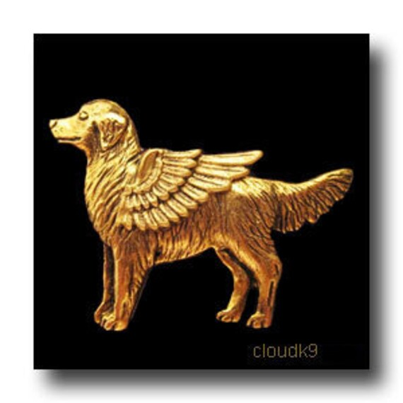 Golden Retriever Angel Pin Golden Retriever Jewelry Gift For Etsy
