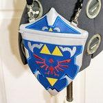 Legend of Zelda Inspired Hylian Shield Embroidered Vinyl Crossbody Bag Purse