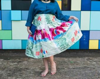 """NEW! 31"""" long Designer Inspired Child's Drawing Skirt PLUS SIZE 18 20 22 24 26 28 30"""