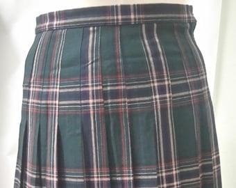 Vintage Tartan Plus Size Pleated Skirt Size 18 - Edinburgh