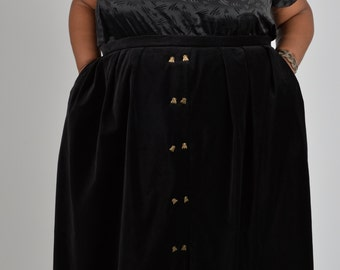 NEW! Velveteen Skirt with Fly Buttons PLUS SIZE 18 20 22 24 26 28 30