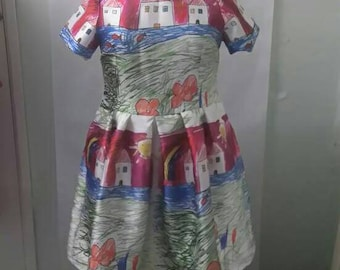 NEW! Child's Drawing Dress Size 18 20 22 24 26