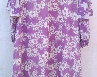Size 14 70's Margo Leadbetter Maxi Dress by Berkertex