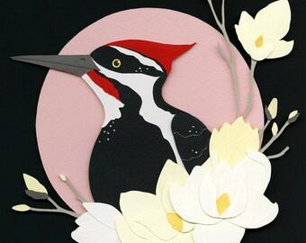 Giclee Print: Pileated Woodpecker