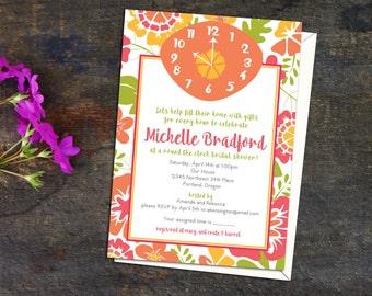 bbf607ed4ac Around the Clock Bridal Shower Invitation