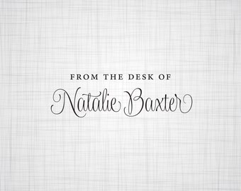 From The Desk Of Personalized Stamp, A Note From Personalized Stationery  Stamp, Rubber Stamp, Self Inking Stamp, Custom Name Stamp