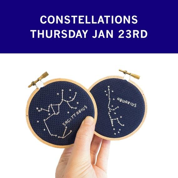 Workshop : Constellations Cross Stitch