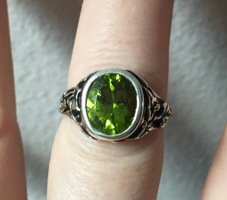 Peridot and Sterling The Ivy Ring image 0