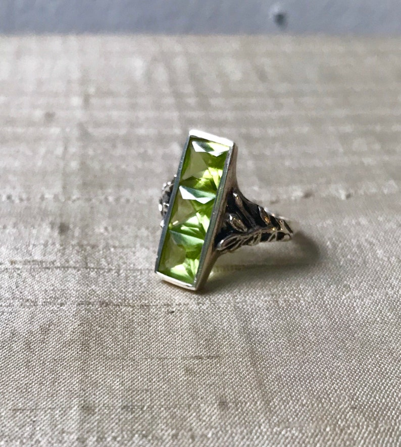 SALE Peridot in Sterling Silver The Indigo Ring image 0