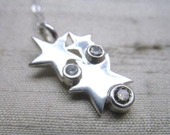 Cognac Diamonds in Sterling Silver- The Starlight Pendant