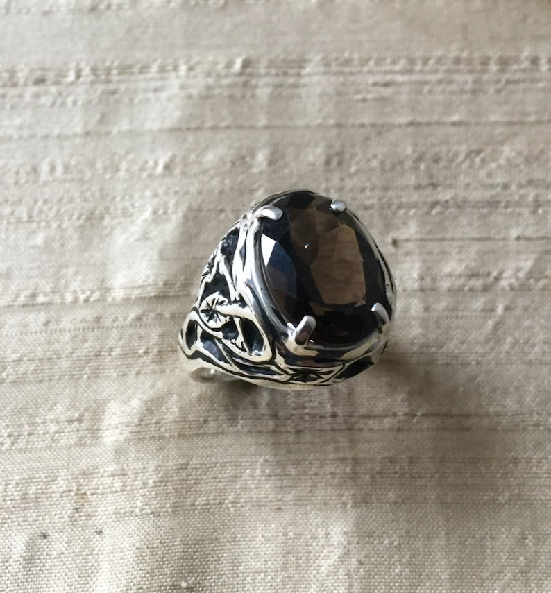 Smoky Quartz and Sterling Silver The Tangled Vine Ring image 0
