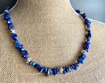 One of a Kind Lapis Lazuli Jewelry Set - Free shipping