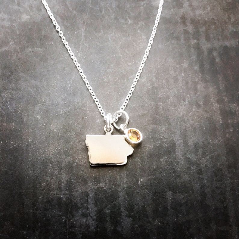 Tiny Iowa Necklace image 0
