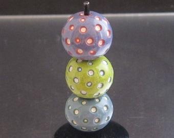 OOAK Glass Lampwork Beads - Rounds
