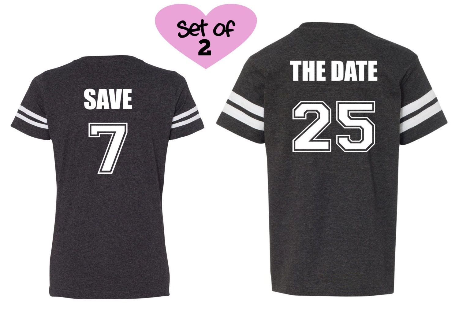 5fabaebcc8 SAVE THE DATE shirts Football shirts Save the Date | Etsy