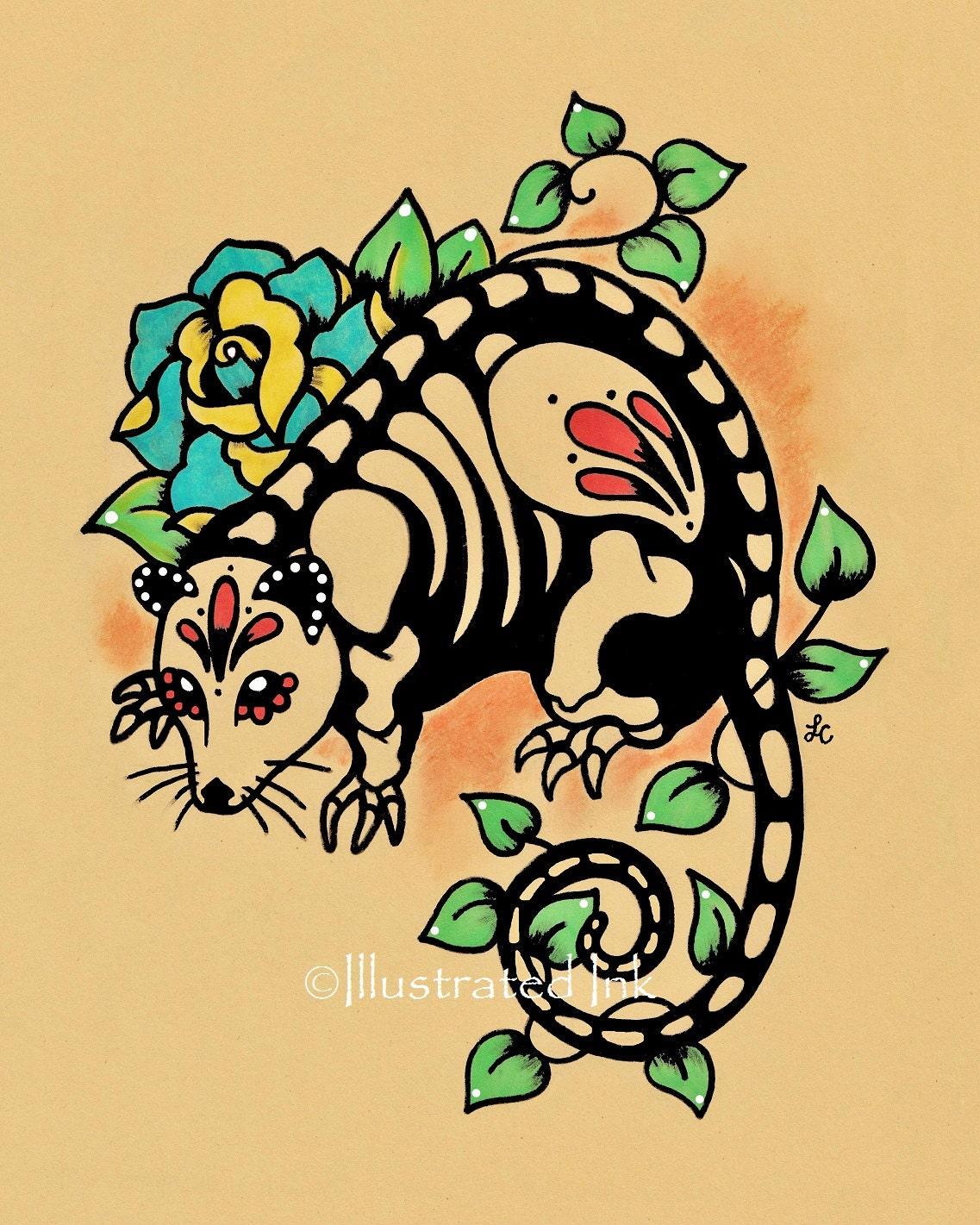 Day of the Dead POSSUM Mexican Folk Art Dia de los Muertos   Etsy
