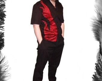 Leopard Print Flame Shirt, Rockabilly Wear, 3 colours available