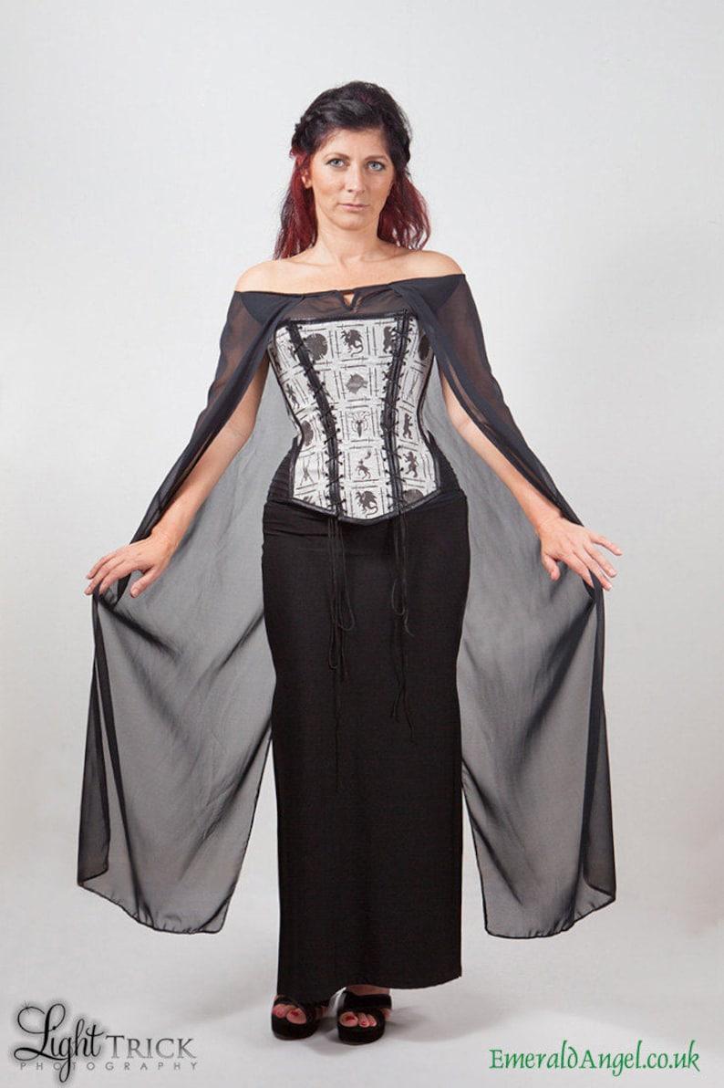 Game of Thrones inspired House Sigils Print Corset Custom Size