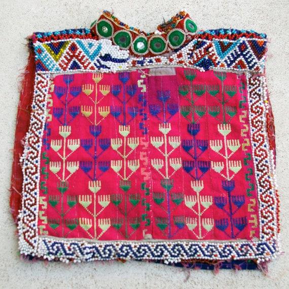 Afghanistan- Vintage Textile Remnant, Dress Yoke,