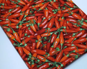 Red, Chili Pepper, Food Fabric, Red Hot Chili Pepper, Chef Fabric,  Novelty Fabric, Kitchen Fabric, Quilting Fabric, Sewing Fabric,