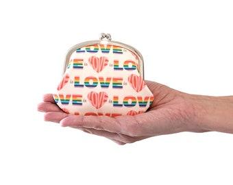 Love is love coin purse - rainbow change purse - LGBTQ pride