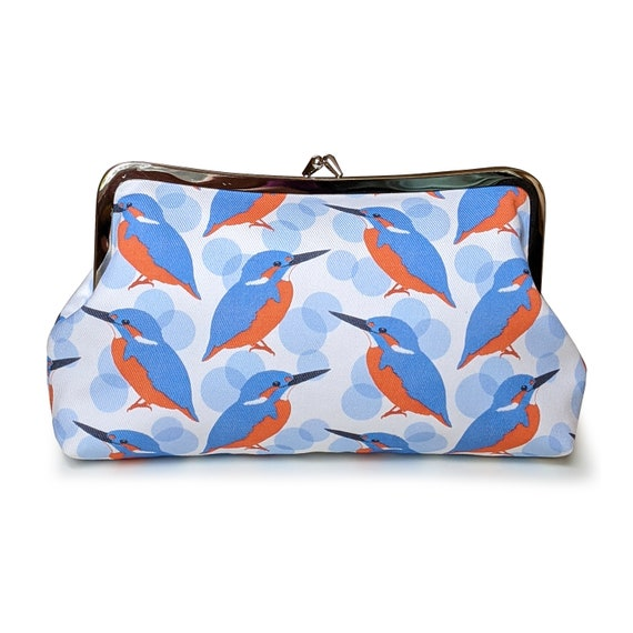 Kingfisher clutch purse