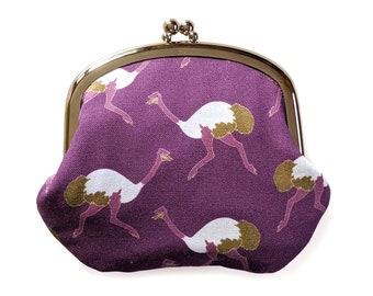 Ostrich coin purse - purple