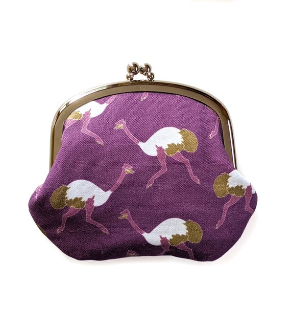Ostrich coin purse - purple