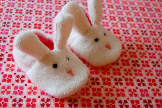 Bunny slippers baby booties