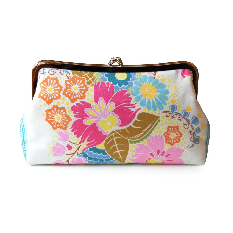 Floral Clutch Purse Boho Clutch Purse Summer Purse Colorful