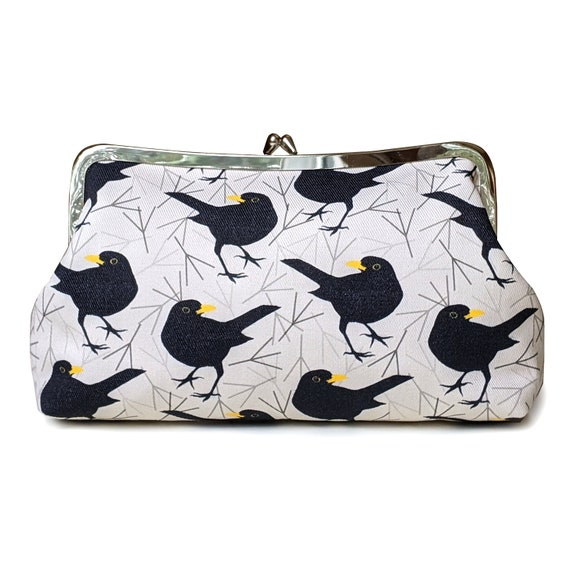 Blackbird clutch purse