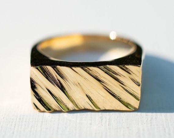Treebark Signet Ring
