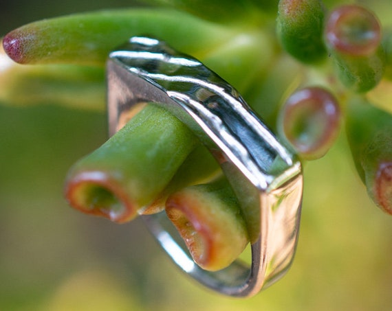MR29 - Thin Cuttlebone Signet Ring