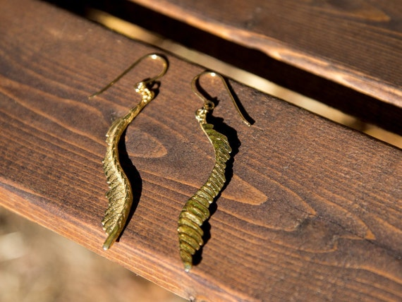 ME13 - Cuttlebone Feather Earrings