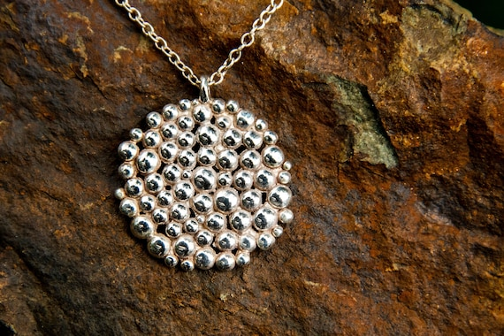 Large Caviar Cluster Necklace