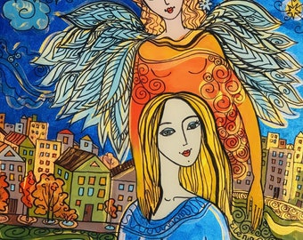 Sale, Print of Painting Inspired by the book Angels in My Hair