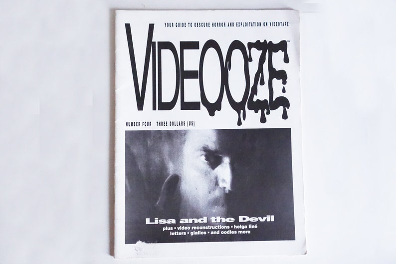 VIDEOOZE #4 1992 Fanzine Cult Movies Mario Bava Guide to Obscure Horror +  Exploitation Magazines Rare Zines vhs Video Reviews SHIPS FAST