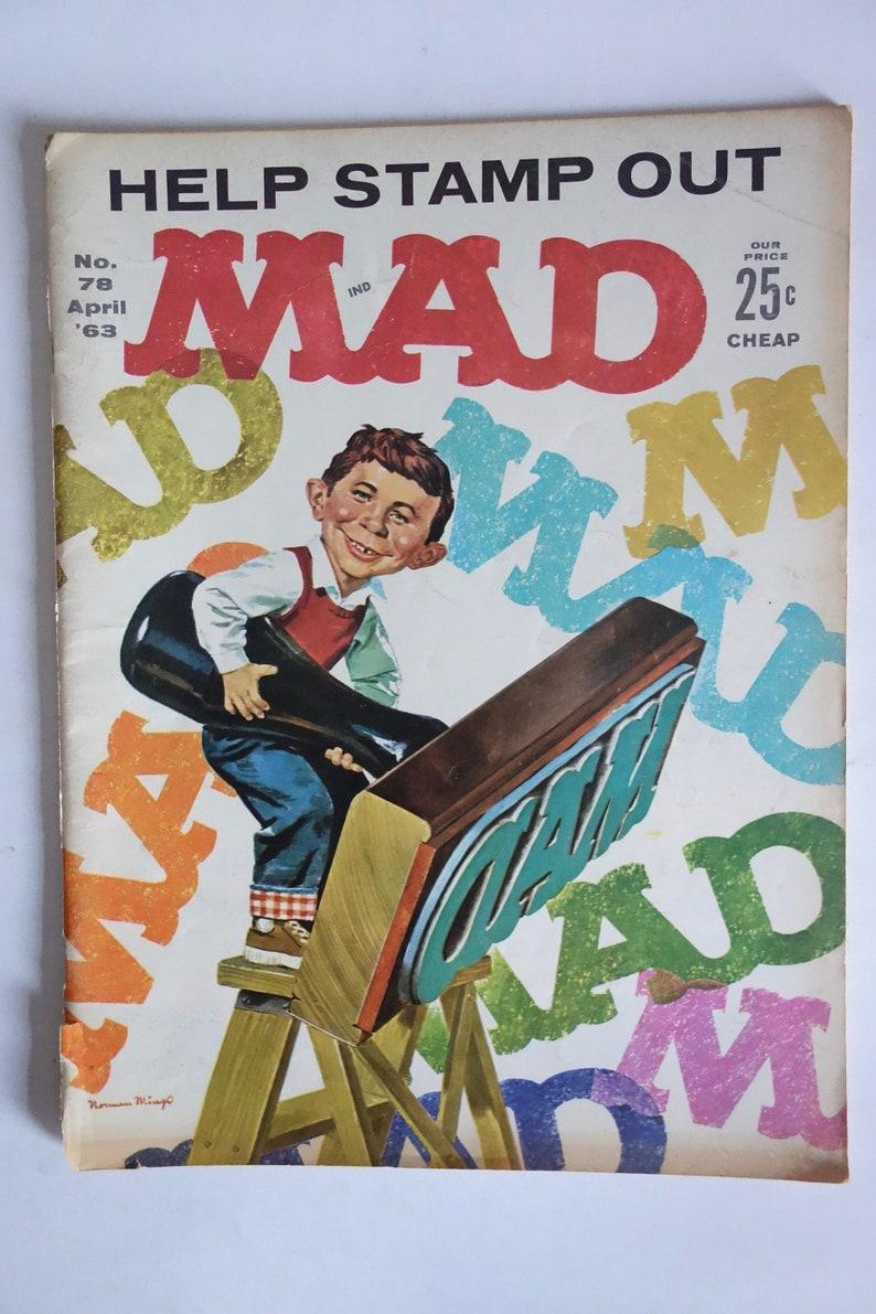 988af877c Vintage Stamp Out MAD MAGAZINE 1963 Norman Mingo Cover Alfred | Etsy